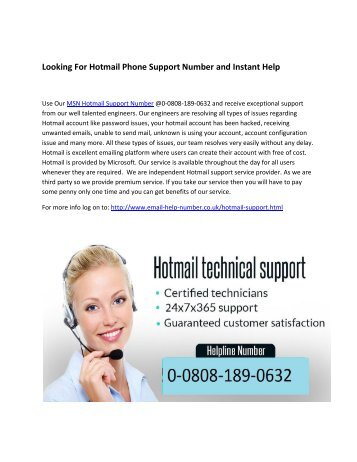Call Hotmail Support UK @0-0808-189-0632 For Hotmail Technical Support