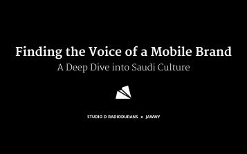Finding the Voice of a Mobile Brand