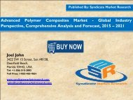 Advanced Polymer Composites Market - Global Industry Perspective, Comprehensive Analysis and Forecast, 2015 – 2021