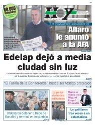 Edelap dejó a media ciudad sin luz