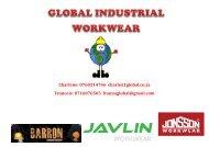 GLOBAL INDUSTRIAL WORKWEAR Catalogue nuwe
