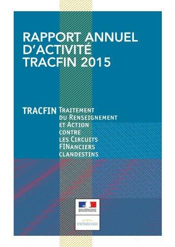RAPPORT ANNUEL D'ACTIVITÉ TRACFIN 2015