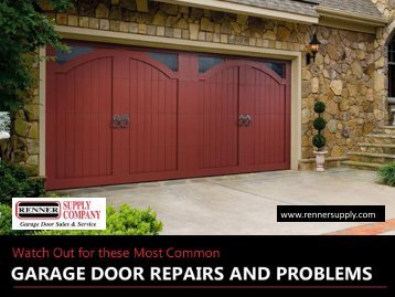 Common Problems that Arise in Garage Doors