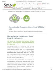 Human Capital Management Software end users list can be completely customized based on your business needs