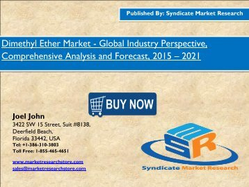 New report to study the Global Dimethyl Ether Market share, size 2021