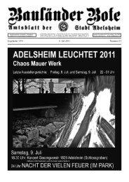 9. Juli 2011 ab 9.30 Uhr Gelände des EBG - Adelsheim