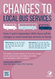 changes to some local bus services in Surrey