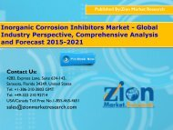 Inorganic Corrosion Inhibitors Market - Global Industry Perspective, Comprehensive Analysis and Forecast 2015-2021