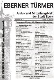 Veranstaltungsmagazin Landkreis Haßberge und Region 2019