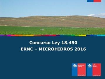 ERNC – MICROHIDROS 2016