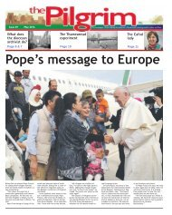 Issue 49 - The Pilgrim - May 2016 - The newspaper of the Archdiocese of Southwark