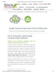 Google Compute Engine end users list has relevant and high yielding contacts