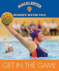 Macalester Water Polo Recruiting Guide