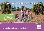Gutscheinheft Lüneburger Heide 2016