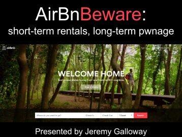 short-term rentals long-term pwnage
