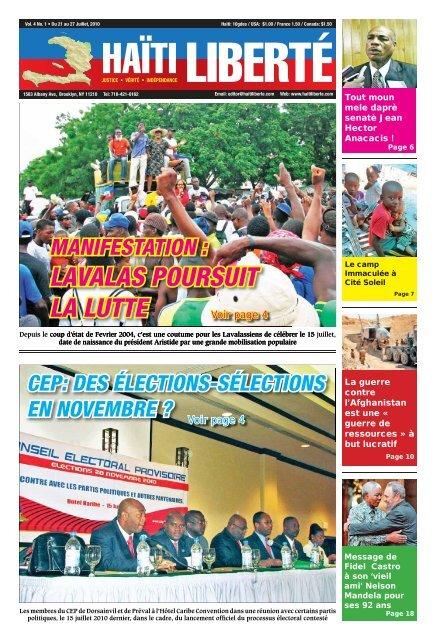 Haiti Liberte 21 Juillet 2010