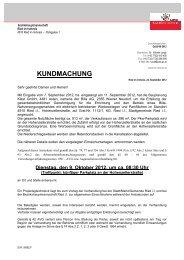 KUNDMACHUNG - Ried im Innkreis