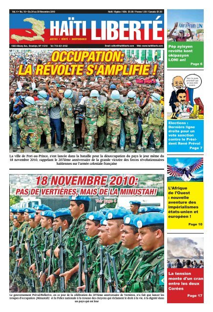 Haiti Liberte 24 Novembre 2010