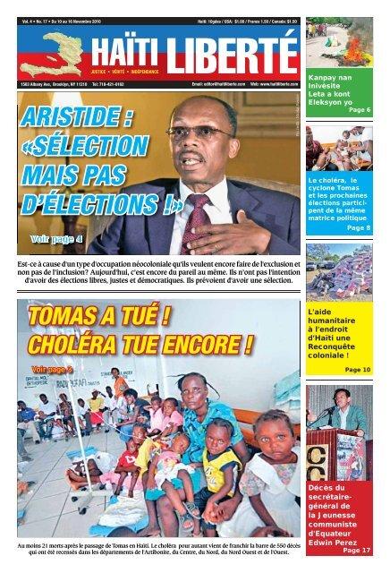 Haiti Liberte 10 Novembre 2010