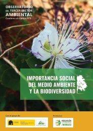 IMPORTANCIA SOCIAL DEL MEDIO AMBIENTE Y LA BIODIVERSIDAD