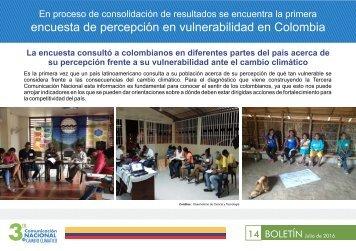 encuesta de percepción en vulnerabilidad en Colombia