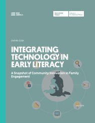 INTEGRATING TECHNOLOGY IN EARLY LITERACY