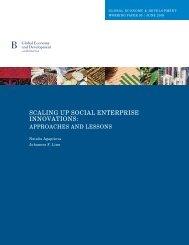 Scaling up social enterprise innovations