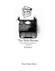 The Vade Mecum | Volume 4