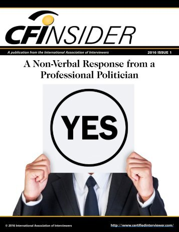 A Non-Verbal Response from a Professional Politician