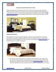 The Appeal of Solid Wood Bedroom Furniture