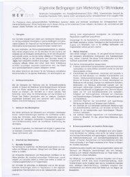 Allgemeine Bedingungen zum Mietvertrag für Wohnräume H E V ...