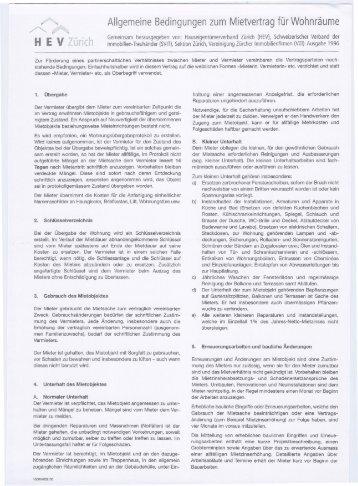 Allgemeine Bedingungen Zum Mietvertrag Für Geschäftsräume