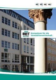 Kompetenz für die Immobilienwirtschaft - BBT GmbH