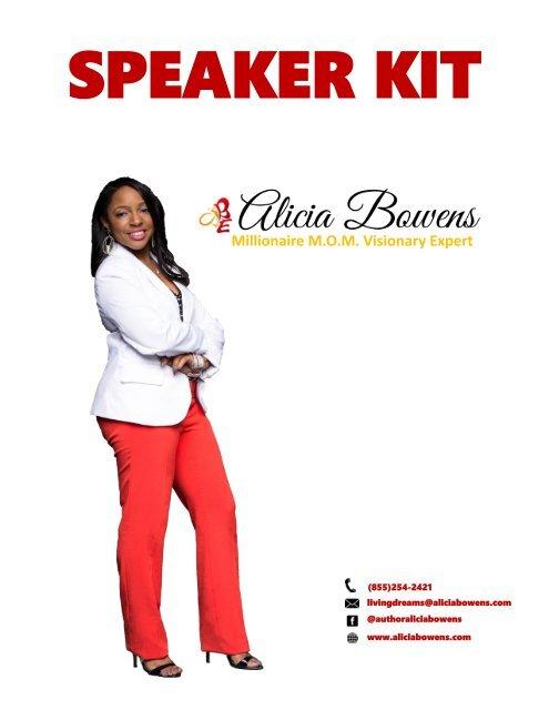 Alicia Bowens Speaker Kit