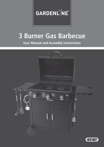 3 Burner Gas Barbecue