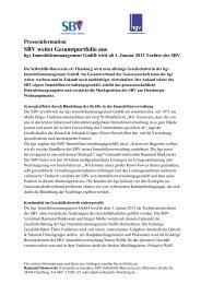 Presseinformation SBV weitet Gesamtportfolio aus - Selbsthilfe ...