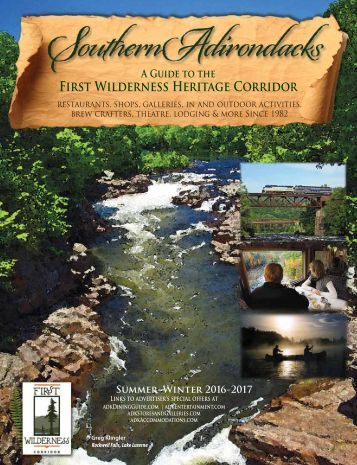 2016-17 Southern Adirondacks Guide to the First Wilderness Heritage Corridor