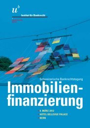 Immobilien- finanzierung - Institut für Bankrecht - Universität Bern