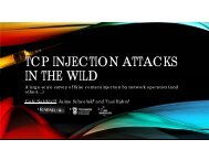TCP INJECTION ATTACKS IN THE WILD