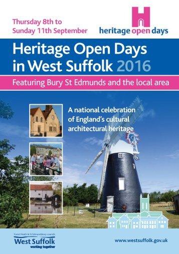 Heritage Open Days in West Suffolk 2016