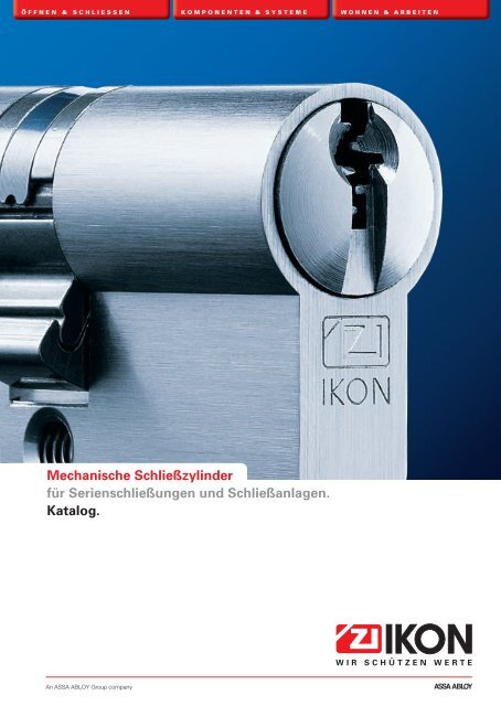 BAB PZ Profilzylinder mit 3 Schlüssel 27,5 mm 57,5 mm  IKON ASSA