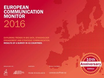 EUROPEAN COMMUNICATION MONITOR 2016