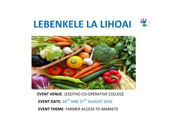 Maseru Farmers Market Overview3