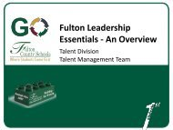 Fulton Leadership Essentials - An Overview