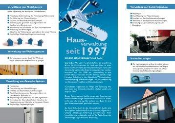 Haus- verwaltung 1997 - bei Hausverwaltung Schmid