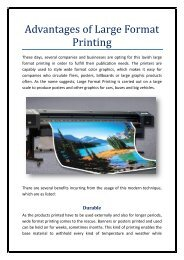 advantages of large format printing