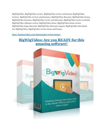BigWigVideo review - BigWigVideo top notch features