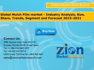 Mulch film Market Worth USD 4.2 Billion by 2020, Globally