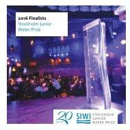 2016 Stockholm Junior Water Prize Finalists