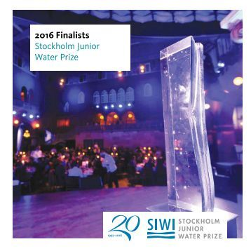 2016 Stockholm Junior Water Prize Finalists